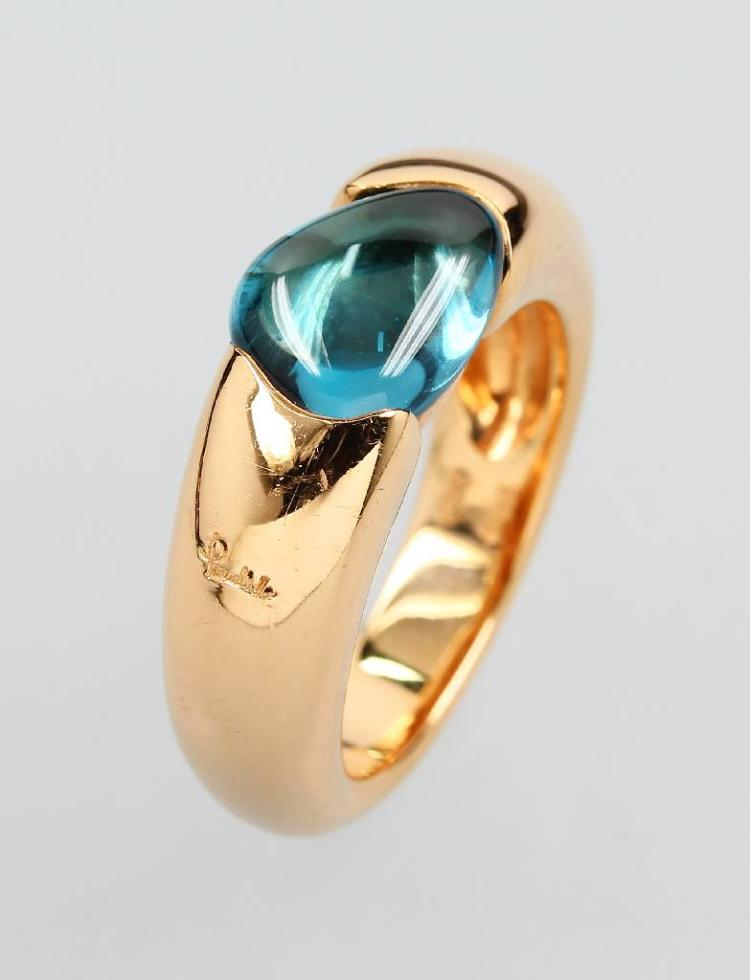 18 kt gold POMELLATO ring 'Sassi' with topaz