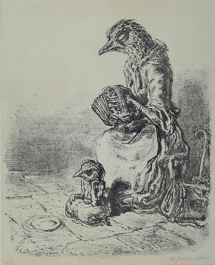 A.Paul Weber, 1883-1980, lithograph