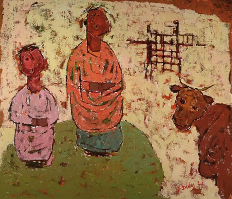 Apostolos Dedes, born 1937, oil / wood