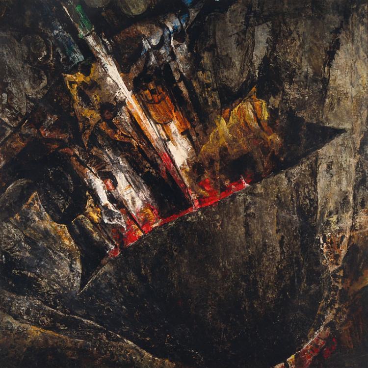 Otfried Mahnke, born 1923, Inzidenz, acrylic