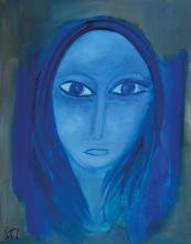 Lucien Sotto, contemporary Belgian artist, oil / masonite