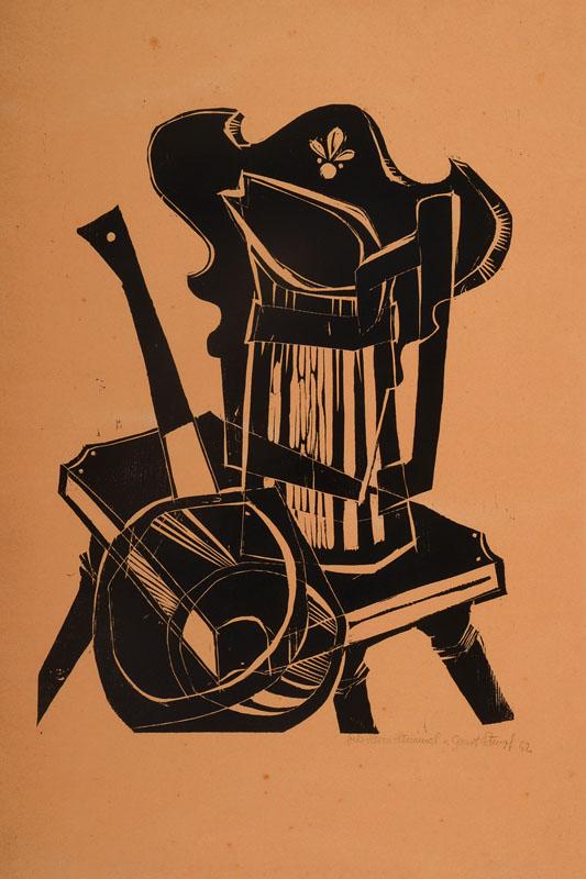 Gernot Rumpf, born 1941, woodcut