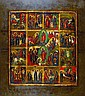 Icon, Russia, around 1900, tempera on wood,
