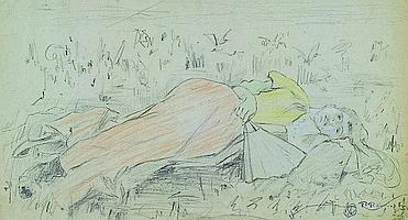 Koch, Friedrich Ferdinand, 1863-1923 Landau, Lying