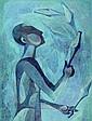 Wenig, Jan, born in 1910, Juggler, oil / masonite,