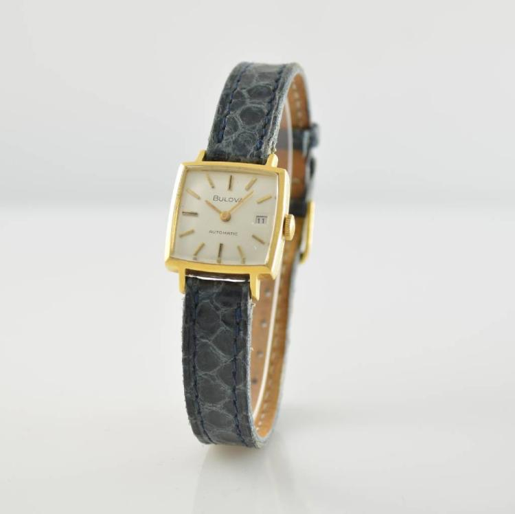 bulova 18k yellow gold wristwatch