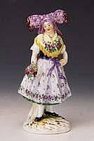 Porzellanfigur, Meissen, um 1900, Jugendstil,