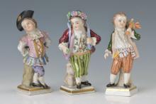 3 figurines, Volkstedt