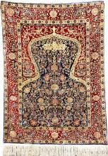 Silk & Metal-Thread Hereke 'Koum-Kapi Design' (Signed),