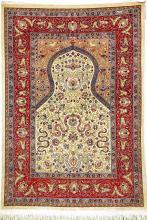 Silk Hereke (Koum-Kapi Design) '16 x 16 Knotting' (Signed),