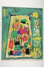 Friedrich Jossé, 1897-1994, mixed media on paper,