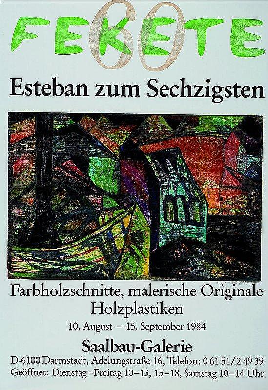 Esteban, Fekete, 1924 Cinkota - 2009 Dieburg,