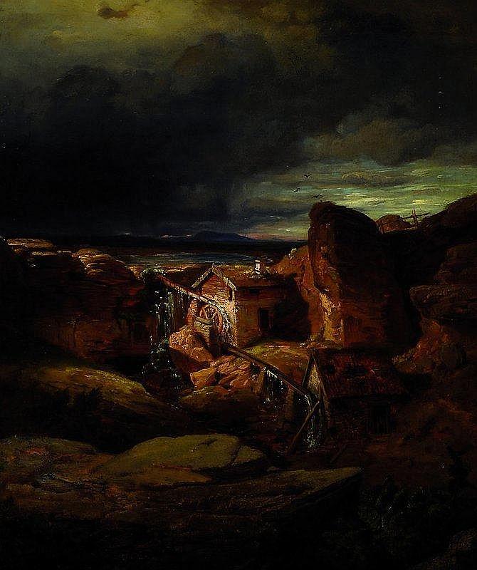 Knoll, Waldemar, 1829 Berlin - 1909 Coburg, Mühle
