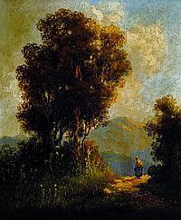 Santho, Miklos, 1869- ca. 1932, Blick auf einen
