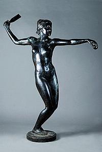 Life-size bronze by Emil Cauer d.J. (1867 - 1946),