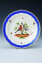 Plate, Meissen, circa 1880, blue border, &