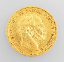Gold coin 20 Mark, 1873