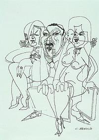 Arnold, Christian, 1889-1960, three figures, pen