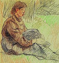 Koch, Friedrich Ferdinand, 1863-1923 Landau, Woman