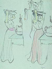 Friedrich Ferdinand Koch, 1863-1923 Landau, sketch