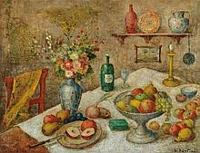 Dante Bertini, born in 1878, still life with Fruit and