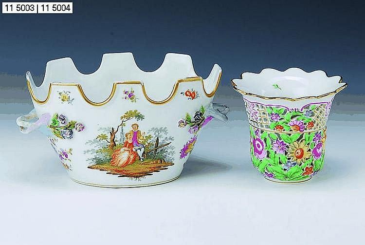 Vase, Herend/Ungarn, 20. Jh., doppelte Wandung,