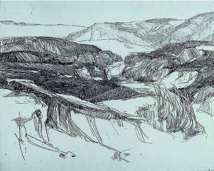 Abresch, Christel, geb. 1931, Radierung, bez. Auf