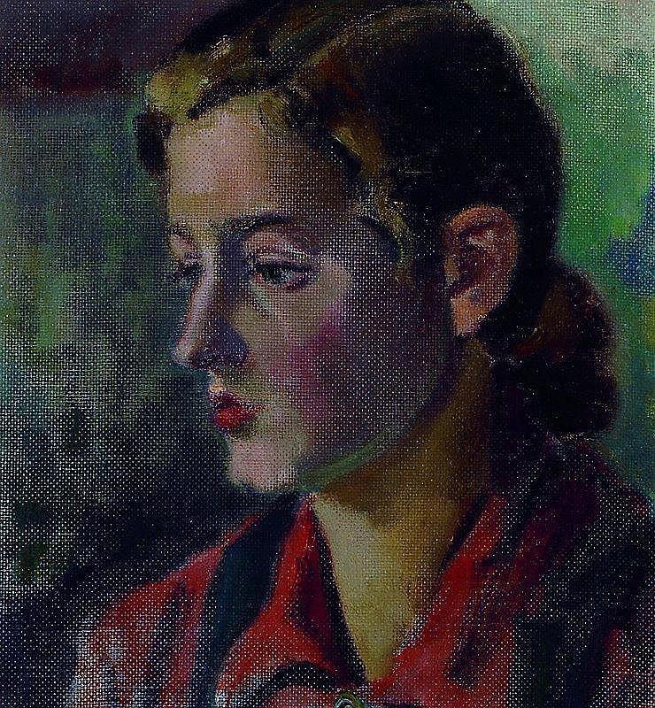 Zuschreibung Nagel, Otto, um 1945, rückseitig