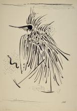 Friedrich Josse, 1897-1994, ink and pencil drawing,