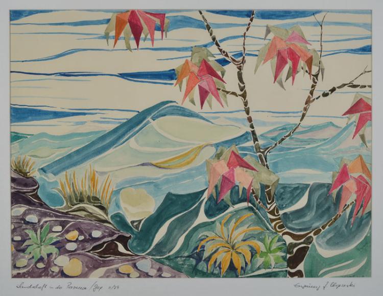 Eugeniusz Zygfryd Olszewski, 1924-2011,  watercolor / paper,