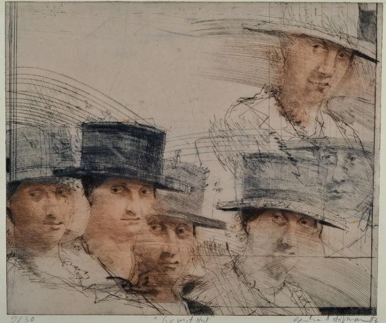 Gerhard Hofmann, born 1960, convolute of three etchings