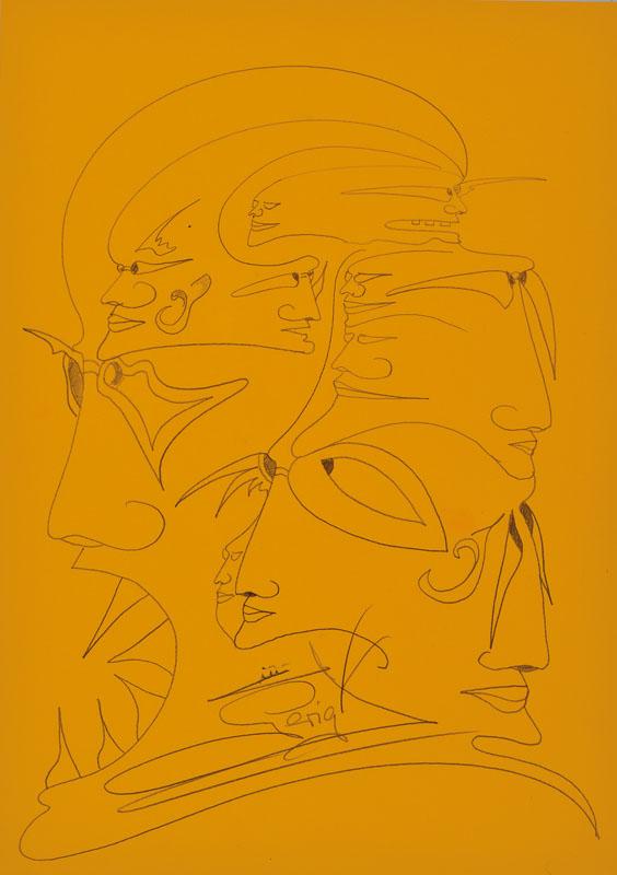 Helmut Gerigk, born 1953, convolute of two pencil drawings
