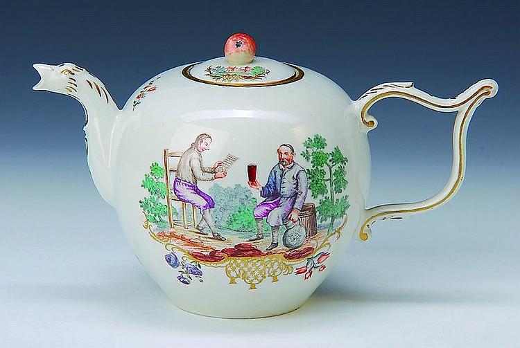 Teekanne, Frankenthal, um 1756/58,