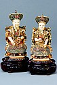Emperor and Empress of China, 1900, Carved ivory,