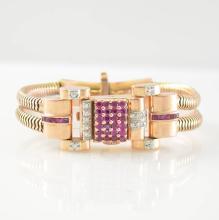 PAUL DITISHEIM/SOLVIL 14k pink gold Art Deco wristwatch