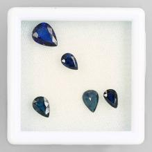 Lot 5 loose sapphires