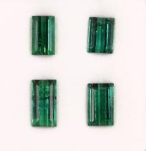 Lot 4 loose tourmalines