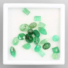 Lot 20 loose emeralds