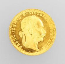 Gold coin, 1 ducat, Austria/Hungary, 1915