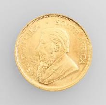 Gold coin, Kruegerrand, South Africa, 1982, Fyngoud, 1