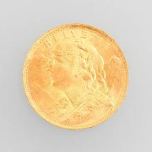 Gold coin, 20 Swiss Francs, Switzerland