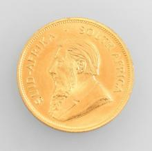 Gold coin, Kruegerrand, South Africa, 1976