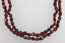 2-row necklace with garnets
