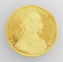 Gold coin 4 ducats Austria/Hungary 1915