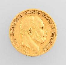 Gold coin, 10 Mark, Prussia, 1872