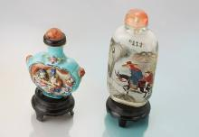 Lot 2 snuffbottles, China approx. 1910
