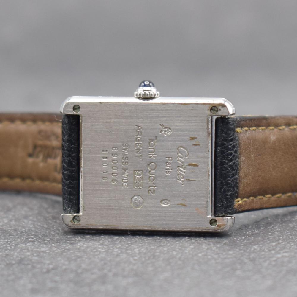 CARTIER Tank sterling silver ladies wristwatch