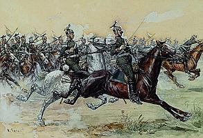 Otto Gerlach, 1862 Leipzig-1908 Teheran, Attacking