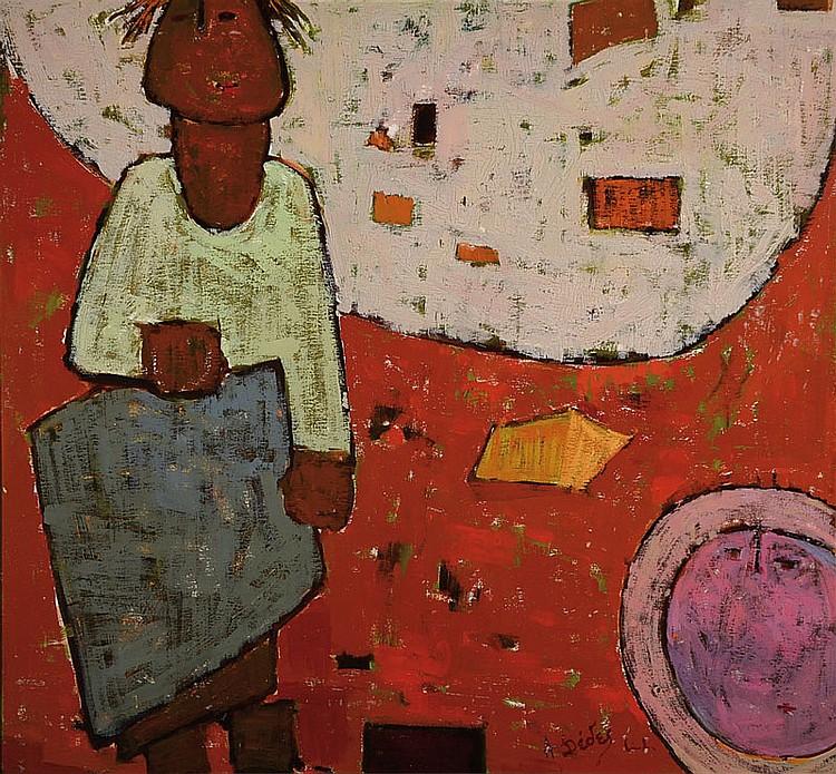 Apostolos Dedes, born 1937, oil/wood