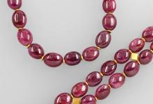 Jewelry set with rubies
